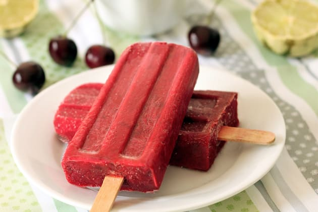 Cherry Lime Popsicles Photo