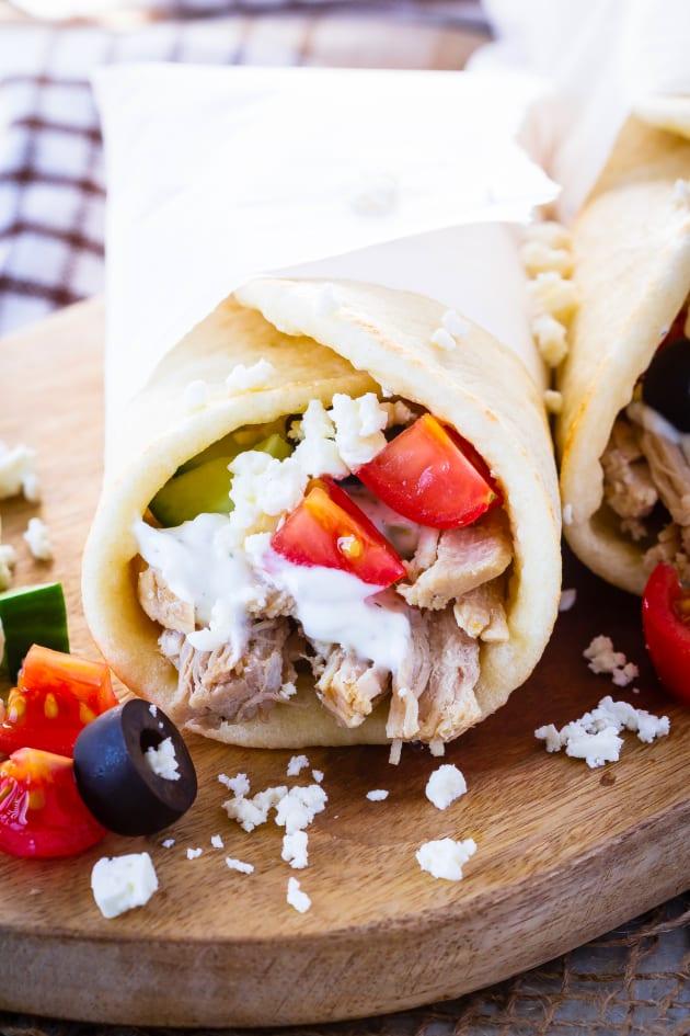 Instant Pot Greek Pork Wraps Picture
