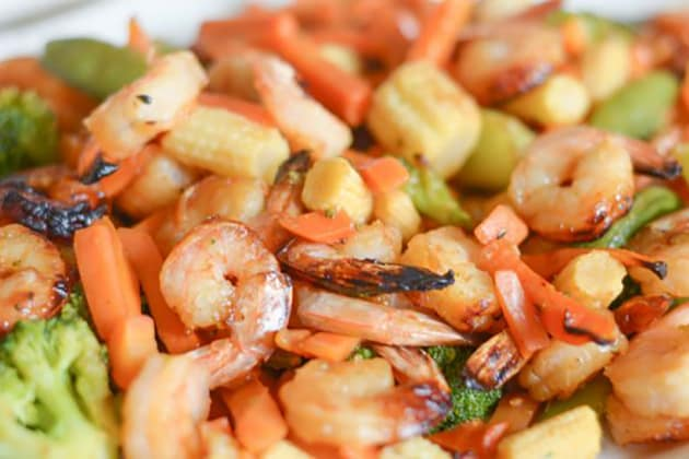 Gluten Free Air Fryer Honey Garlic Shrimp Image