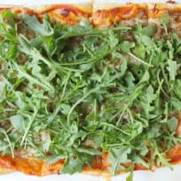 Puff Pastry Sausage and Arugula Pizza Recipe