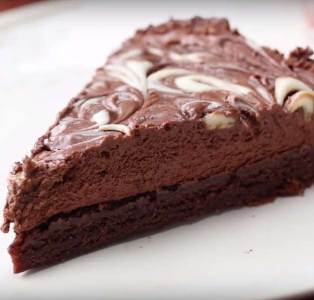 A Slice of Chocolate Fudge Ice Cream Cake