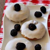 Glazed Blackberry Donuts