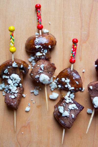 Steak & Mushroom Appetizer Skewers Picture