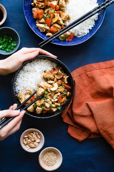 Easy Paleo Cashew Chicken Stir Fry Image