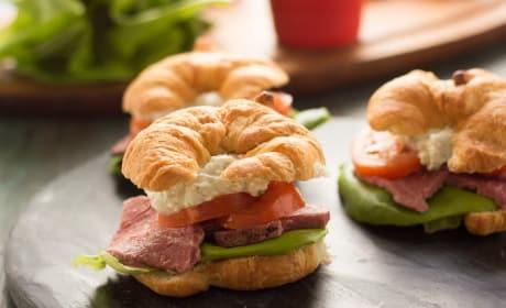 Roast Beef Croissant Sandwiches Recipe
