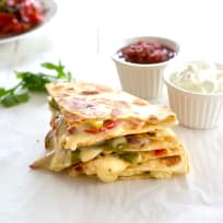 Veggie Fajita Quesadillas Recipe