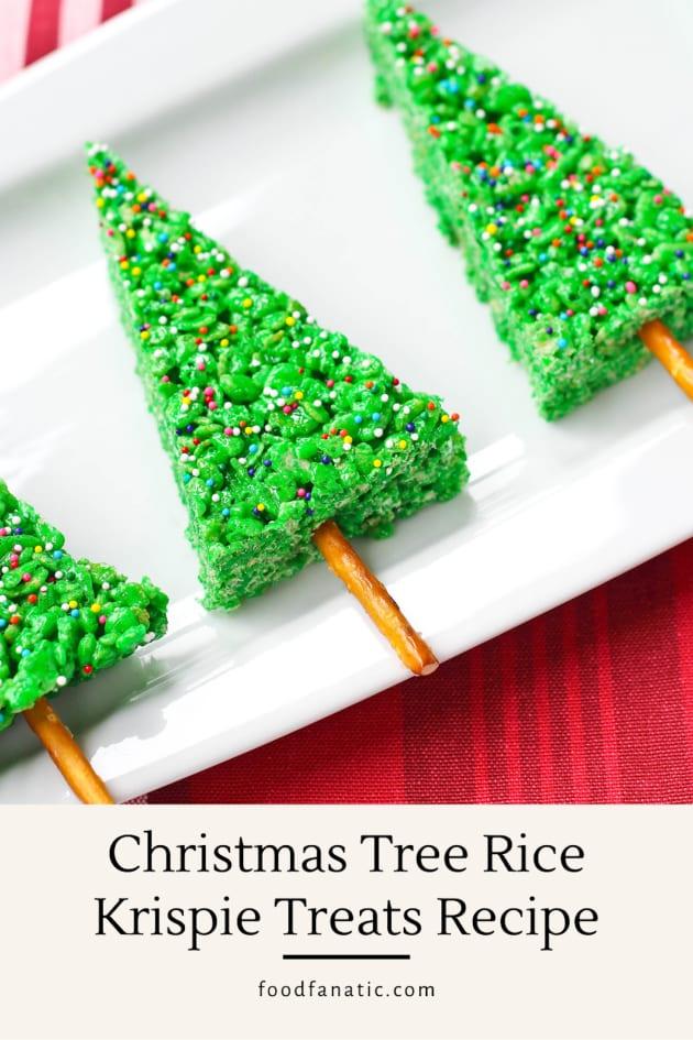 Christmas Tree Rice Krispie Treats Recipe Photo