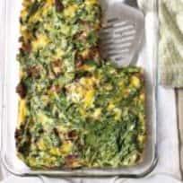 Brisket + Spinach Breakfast Bake