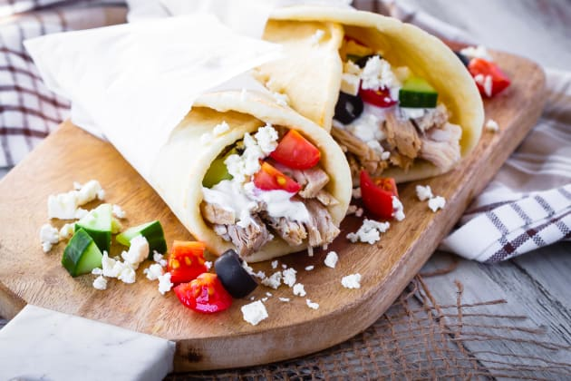 Instant Pot Greek Pork Wraps Photo