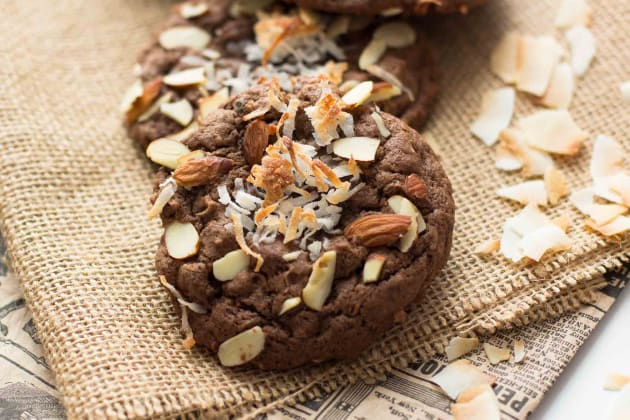 Double Chocolate Almond Joy Cookies Photo