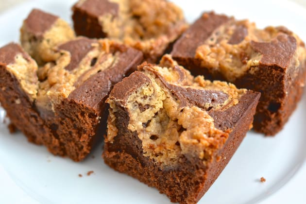 Peanut Butter Swirl Brownies Photo