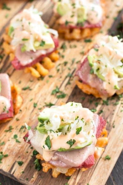 Avocado Reuben Bites Pic