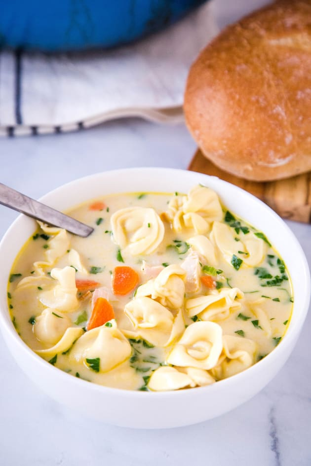 Creamy Chicken Tortellini Soup Pic