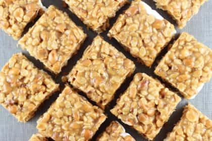 Peanut Butter Cookie Rice Krispie Bars