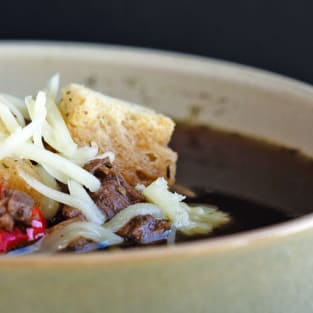 Philly cheese steak soup photo