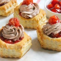 Black Forest Pastry Cups Recipe