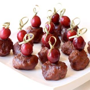 Turkey cocktail meatballs photo