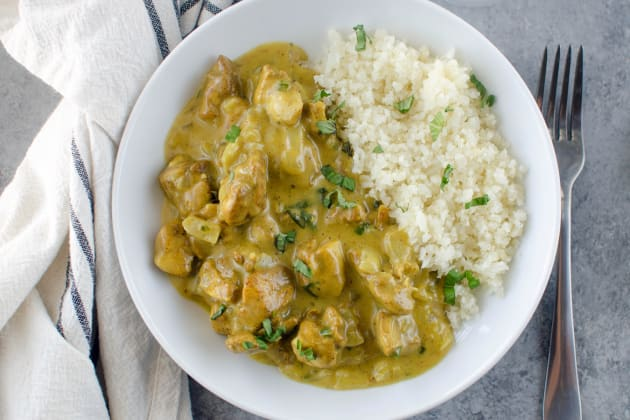 Paleo Basil Chicken Coconut Curry Photo