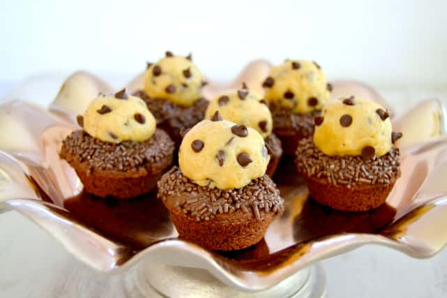 Chocolate Chip Cookie Dough Brownie Cups Recipe
