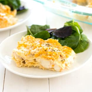 White chicken lasagna photo