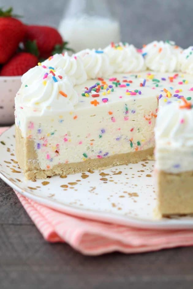 No Bake Funfetti Cheesecake Picture