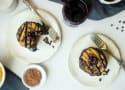 Vegan Cookie Dough Brownie Pancakes