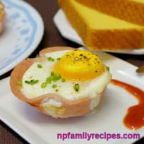 Breakfast Ham Egg Cup (Giăm Bông Trứng Nướng)