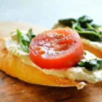 Whipped Feta Breakfast Crostini Recipe