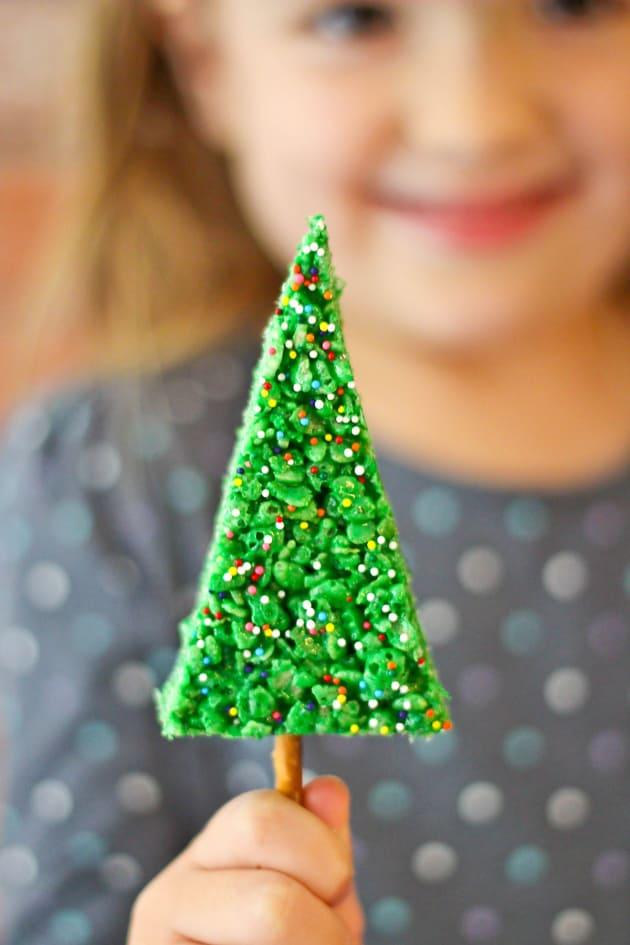 Christmas Tree Rice Krispie Treats Picture