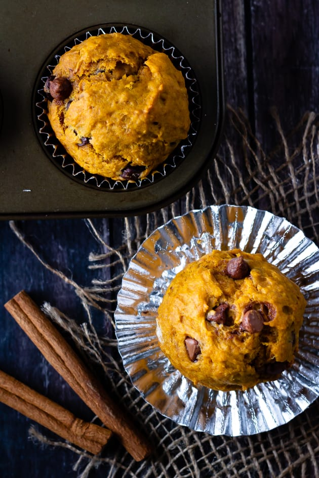 Chocolate Chip Pumpkin Muffins Image