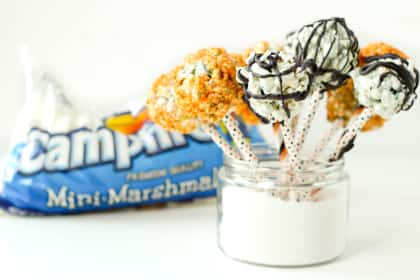 Halloween Popcorn Pops with Campfire® Marshmallows