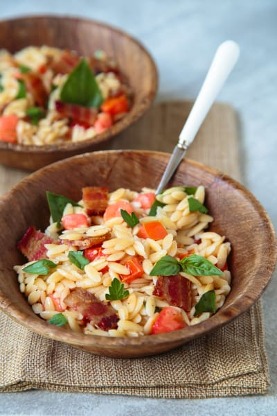 Bacon Tomato Pasta Salad Picture