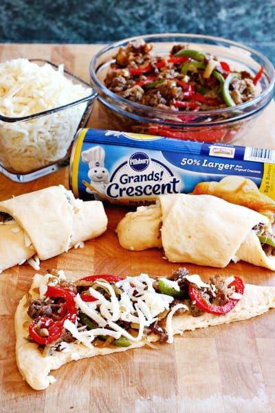 Philly Cheesesteak Crescent Rolls Image