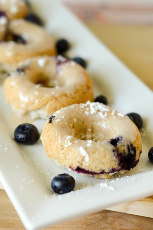 Gluten Free Baked Blueberry Donuts Picture