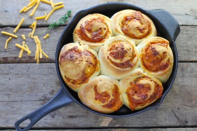 Cheddar Herb Swirl Rolls Photo