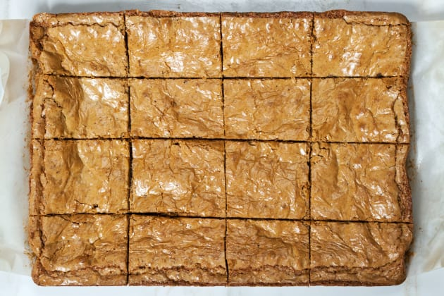 Brown Butter Blondies with Toffee and Hazelnut Image