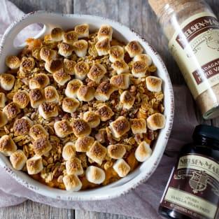 Vanilla sweet potato casserole photo