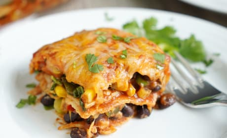 Vegetarian Enchilada Casserole Photo