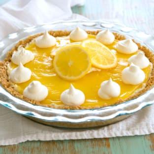 Lemon cream cheese pie photo