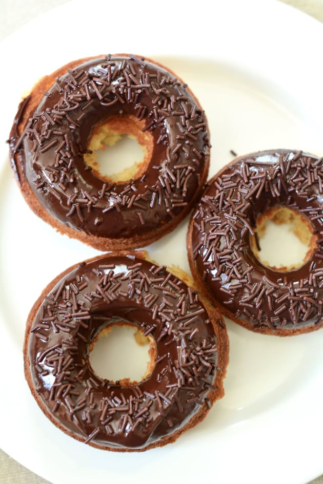 Lemon Donuts with Chocolate Glaze Picture