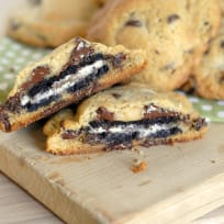 Oreo Stuffed Chocolate Chip Cookies Recipe