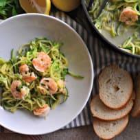 One Pot Zoodle Shrimp Scampi Recipe