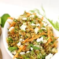 Carrot Slaw Lentil Salad