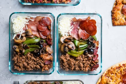 Low Carb Pizza Meal Prep Bowls Recipe