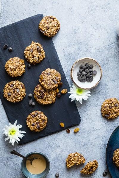Vegan Gluten Free Oatmeal No Bake Cookies Image