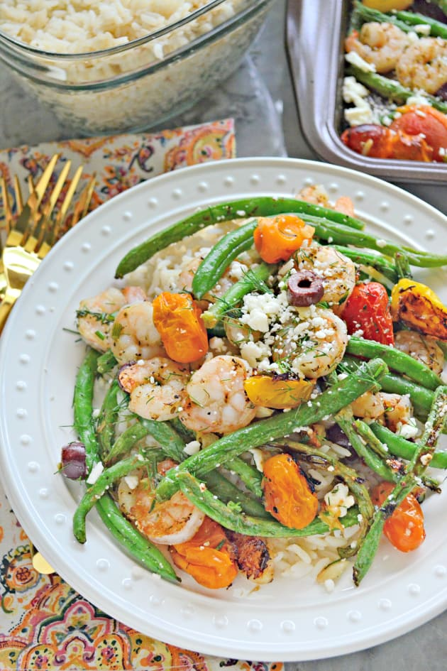 Sheet Pan Greek Shrimp Dinner Image