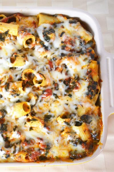 Baked Spinach Rigatoni Pic