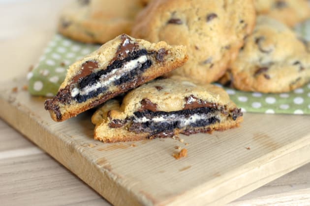 Oreo Stuffed Chocolate Chip Cookies Photo