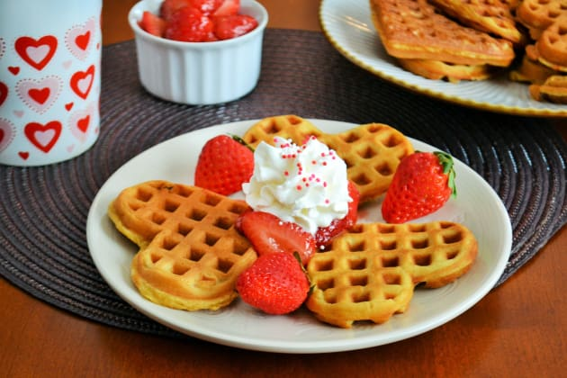 Strawberry Waffles Photo