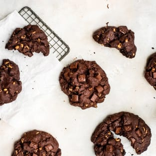 Levain double chocolate cookies photo